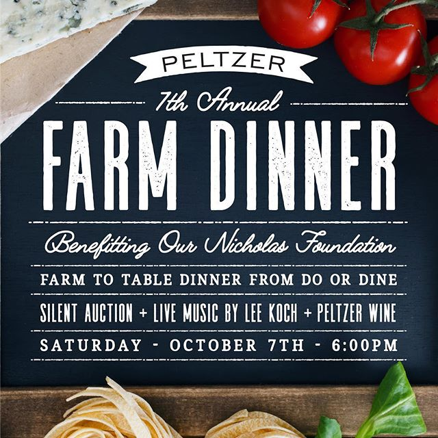 We are very excited to be a part of this incredible charity dinner for @ournicholasfoundation at @peltzerwinery Come on over and show some support! Join us for an evening of amazing wine 🍷 and handcrafted foods using the incredible bounty of the farm community around us. A BIG thank you to all of the Farmers and Business' who kindly donated to this event! @primalpastures @temeculaoliveoilcompany @daleranch @harvest2u and more to come! Tickets available at http://www.peltzerwinery.com/event/7th-annual-farm-dinner/ #goodcause #farmtotable #farmtotabledinner #supportyourlocalfarm #temeculawinery #wineclub #winetourism #farmfresh #pumpkinfarm #harvestseason #harvestdinner #doordinecatering #doordine #fieldtofork #fieldtotable #pastureraisedmeat #laeats #eaterla #sandiegoeats #seeyouatthetable #fireroasted #woodfired #eatlocal #eatrealfood