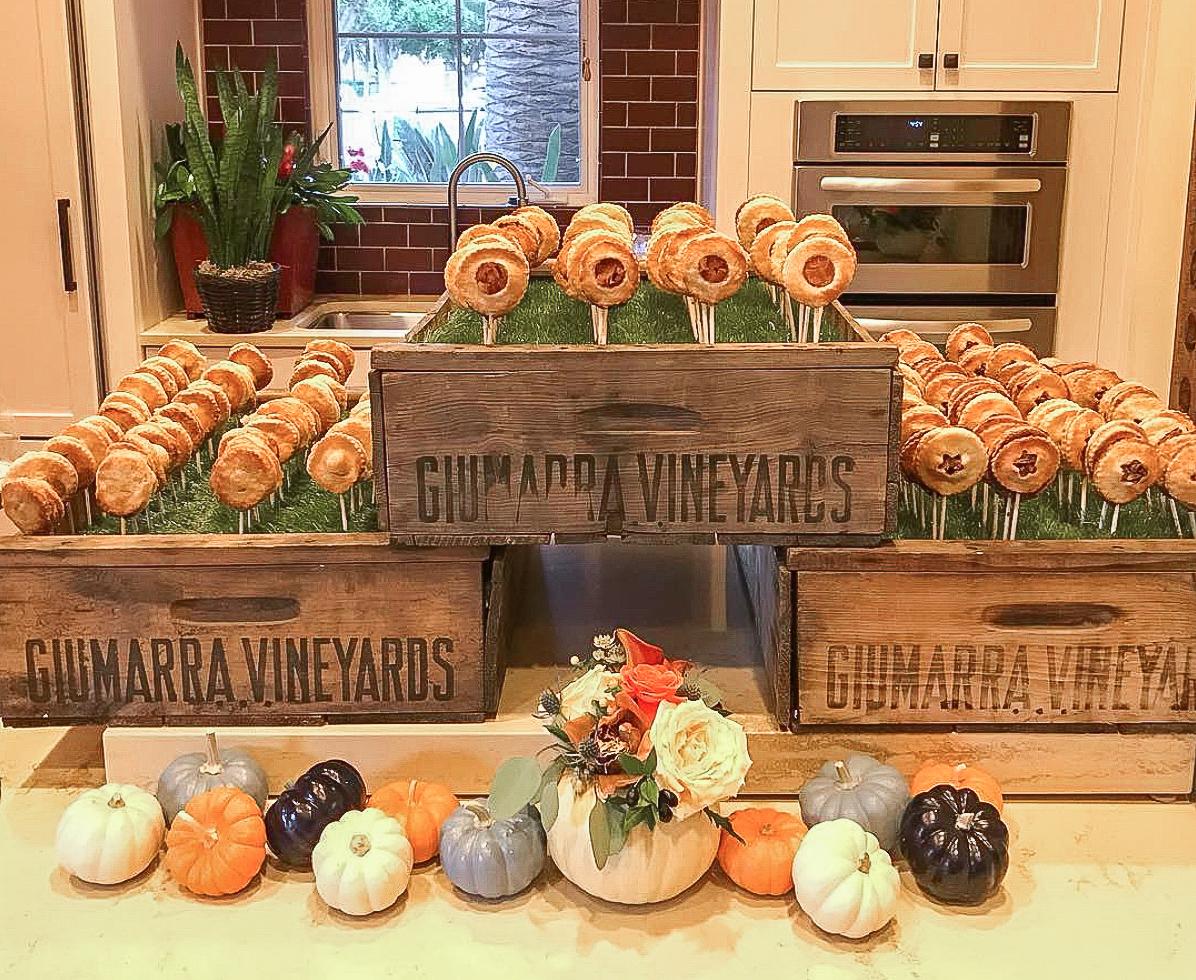 Apple,Pumpkin & Pecan Pie Pops