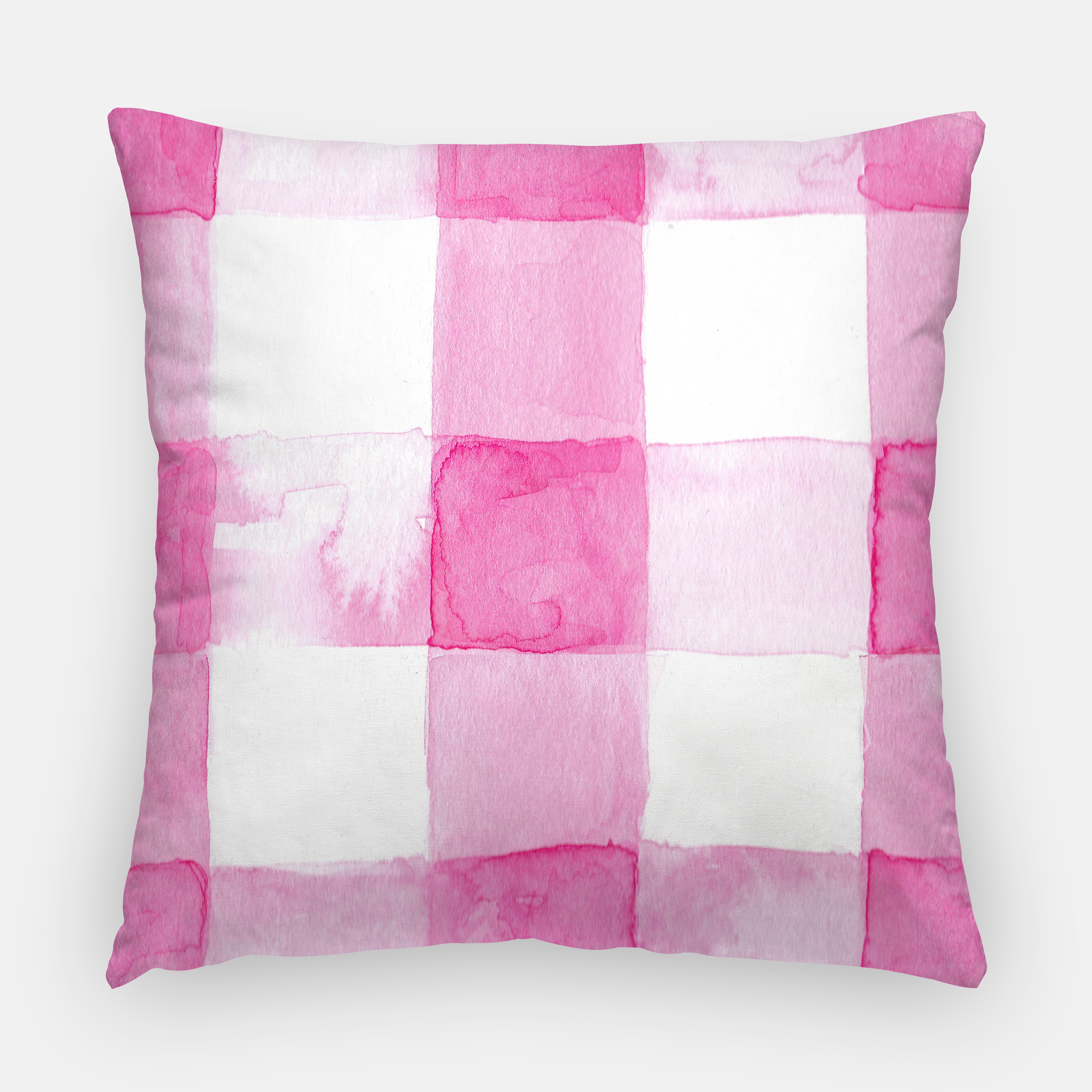 Hot Pink Pillow Buffalo Check