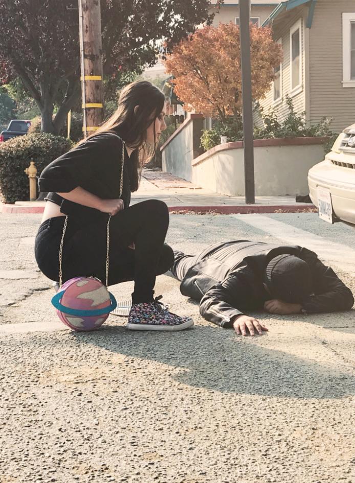 """BTS OF ALYSSA KOMPELIEN AND MANNY ABUCAY ON THE SET OF """"RUN"""" (2019) SHORT FILM WRITTEN BY ALYSSA KOMPELIEN."""