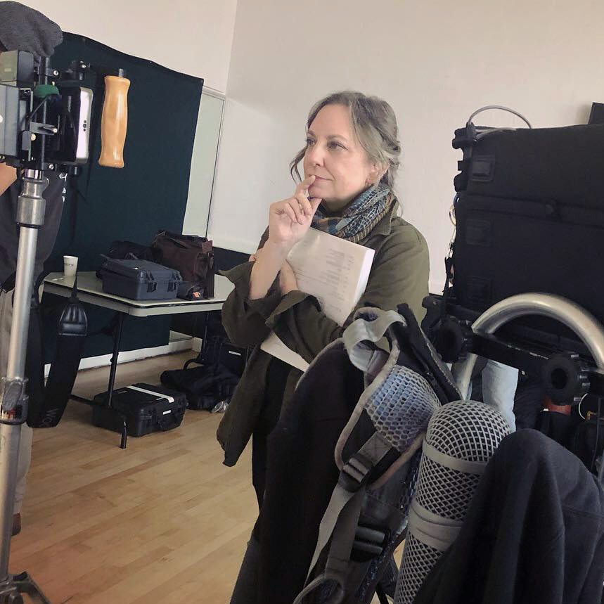 Director Cheryl Isaacson on the set of Safety Work