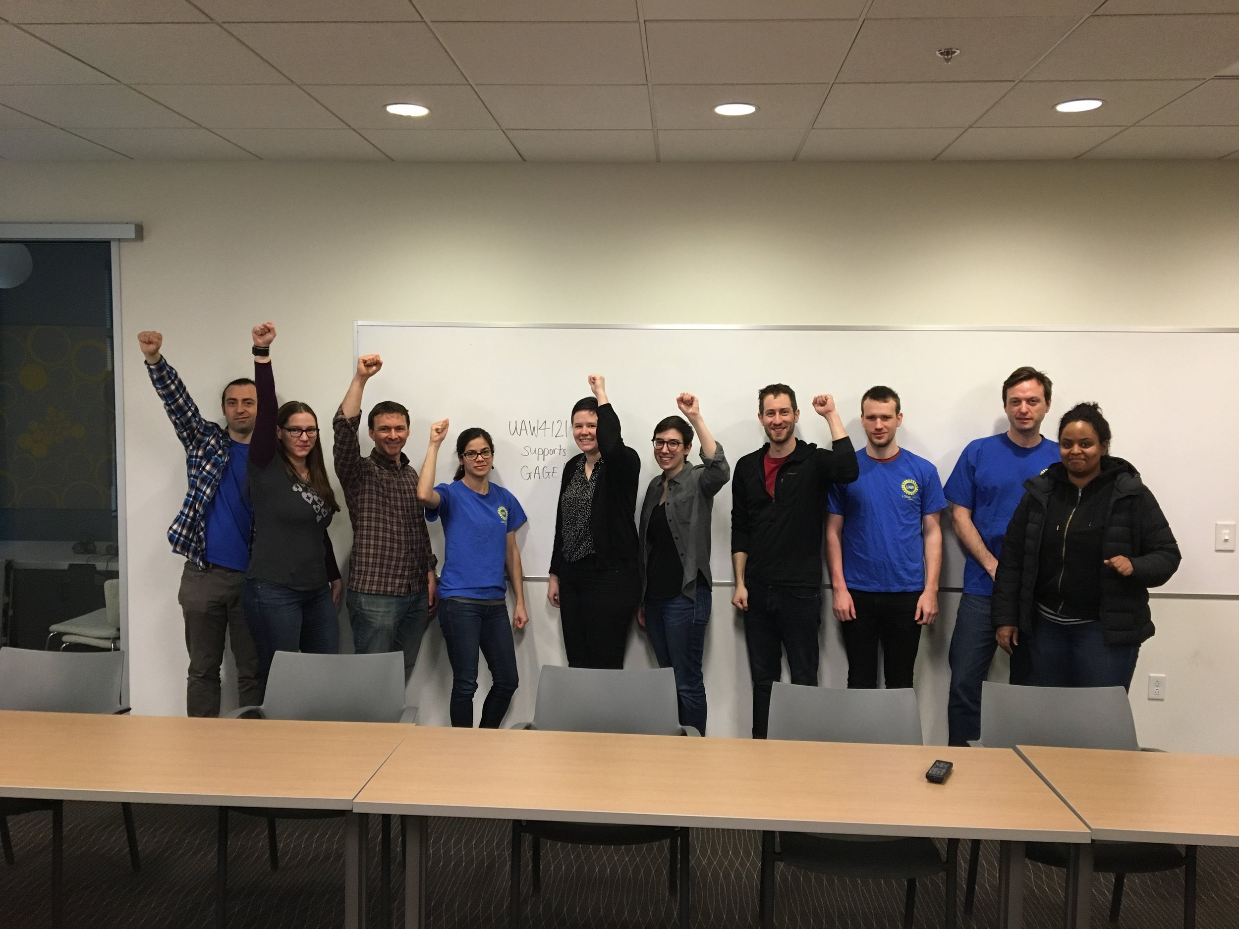 UAW Local 4121 : The Union of Academic Student Employees at the University of Washington, who also generously sent the following open letter to President DeGioia.