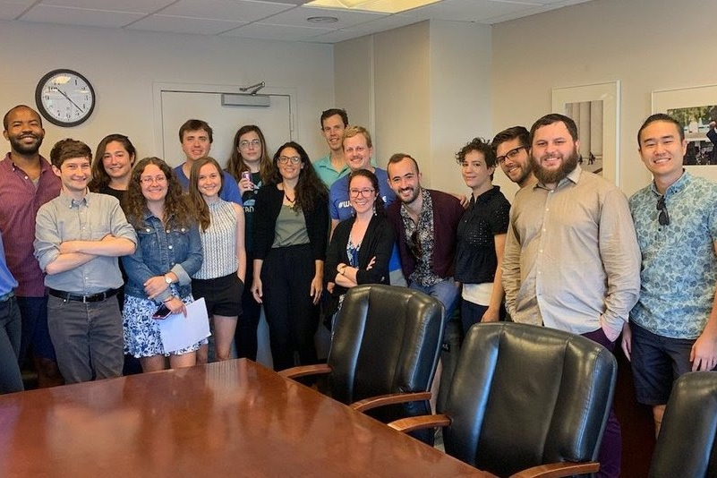 In June 2019, Bargaining Committee members discussed proposals for union grievance procedures with Georgetown University administrators. Many general members attended the meeting in support of GAGE.