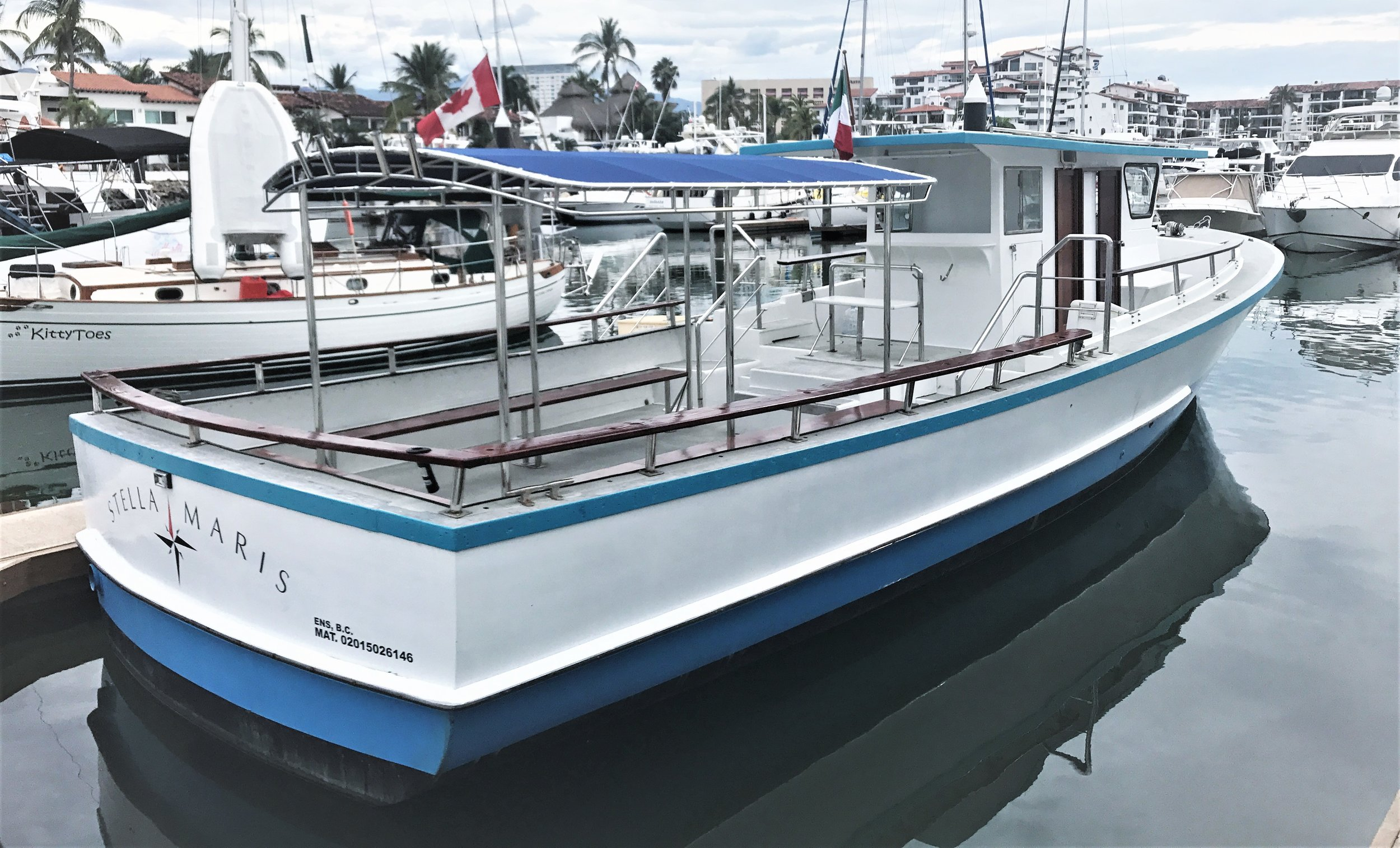 50 Foot boat - Welcome aboard the Stella Maris! 50 Foot boat US Coast Guard approved boat, with separate restrooms for ladies and gents!