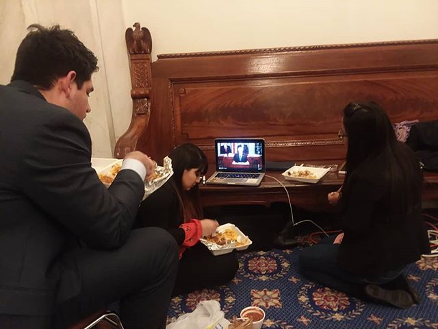 Eating some pupusas while we watch the #SOTU