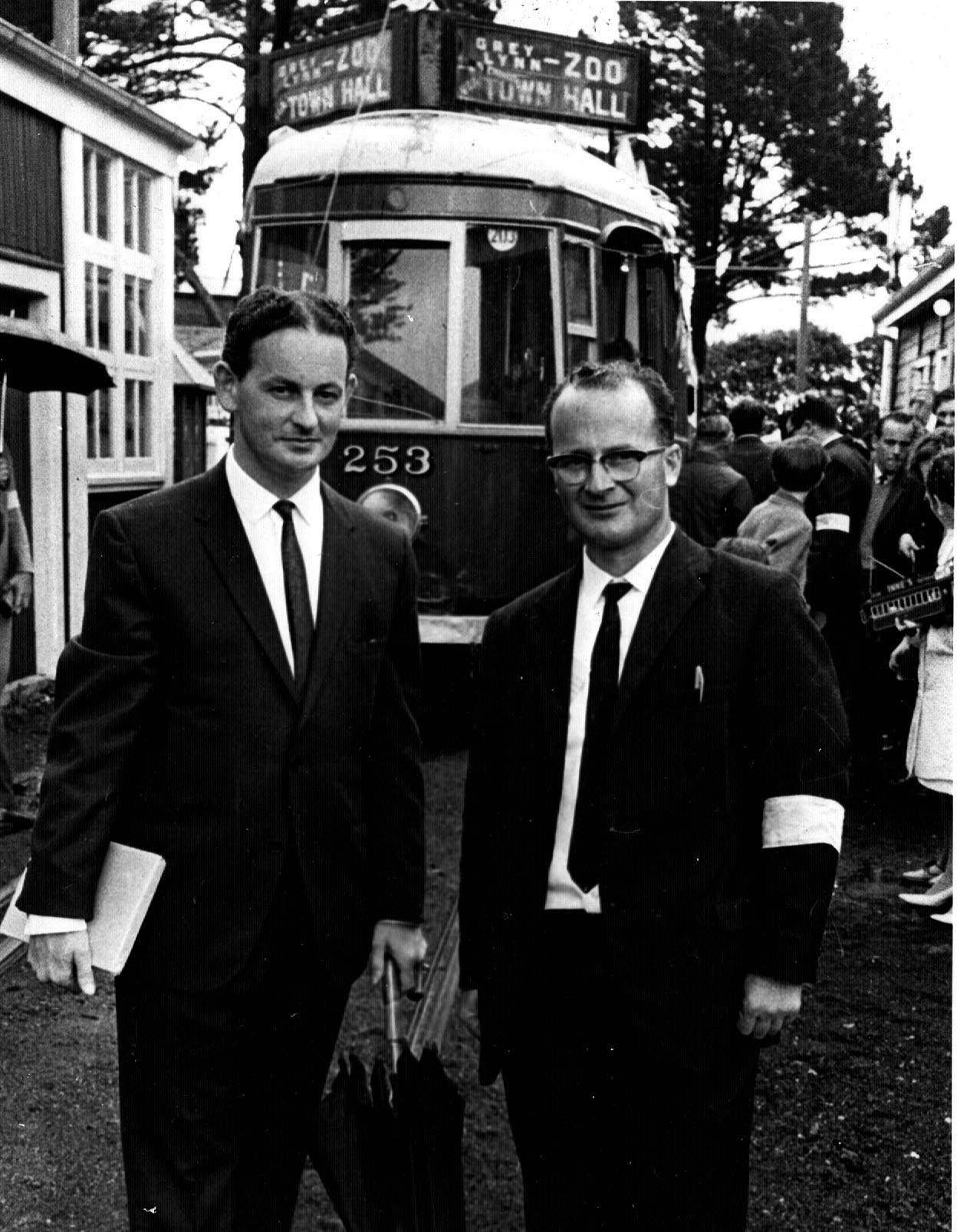 Graham and Ian Stewart - Western Springs Tramway Opening Day December 1967. Photographer unknown.