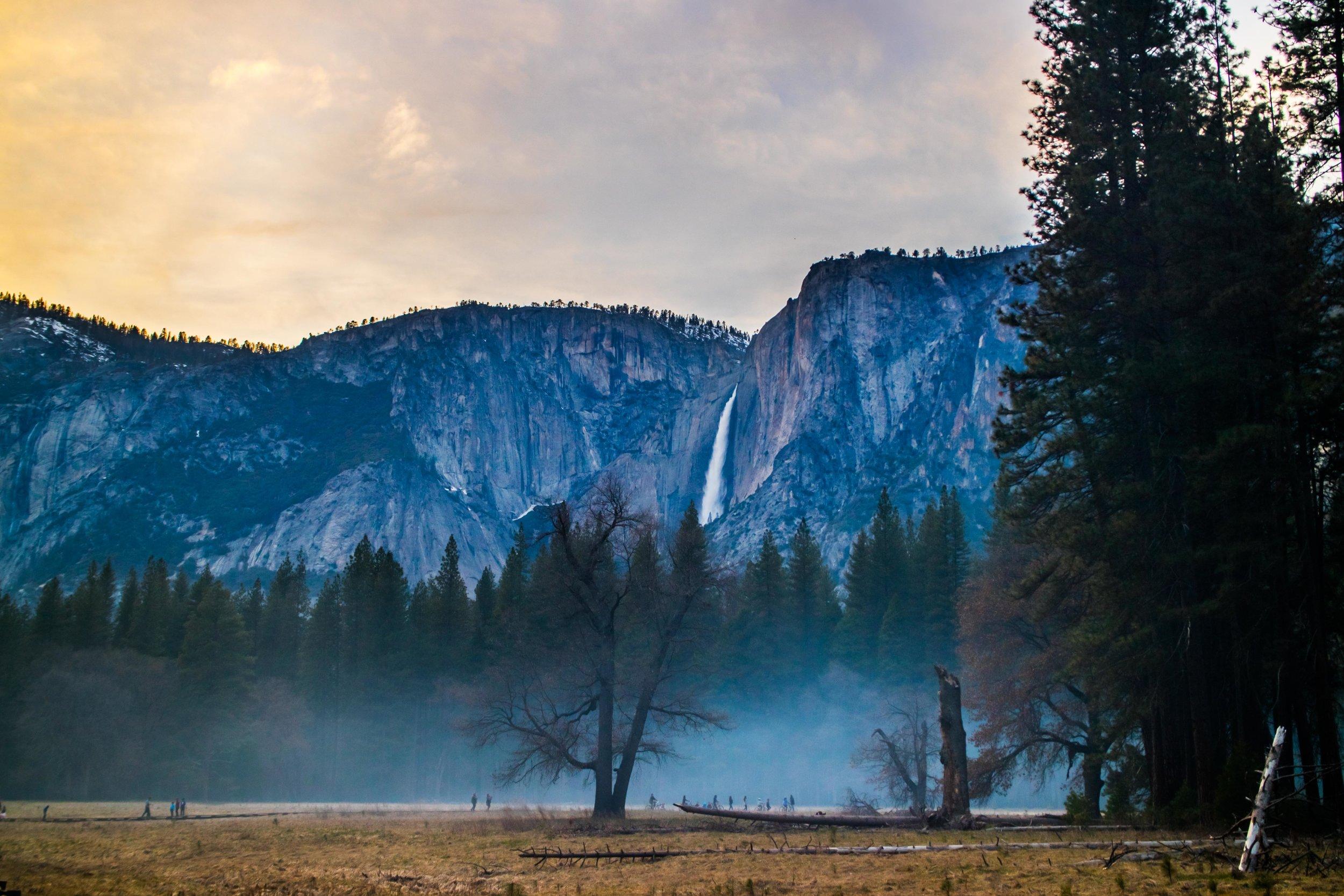 Campfire Dusk at Yosemite.