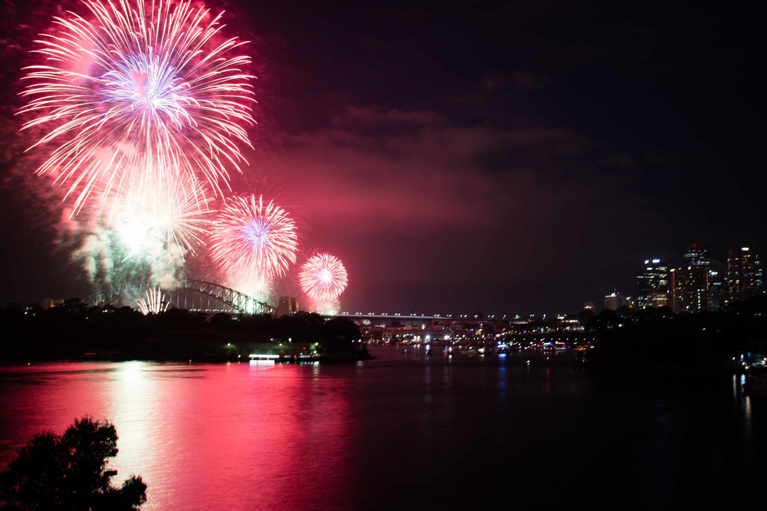 New Year's fireworks in Sydney, AUS.