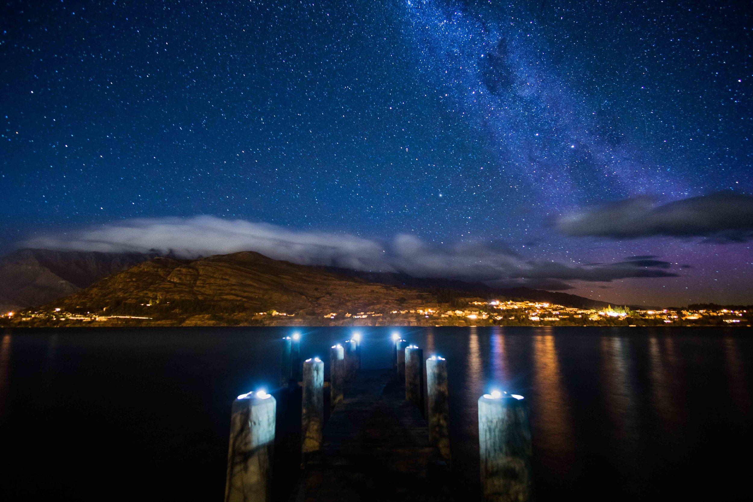 Milky Way above Queenstown, NZ.