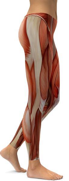 REALISTIC HUMAN MUSCLES LEGGINGS - $87.99