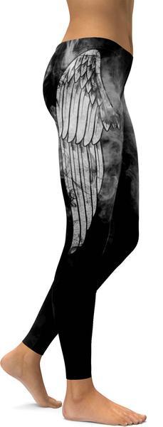 BLACK ANGEL WING LEGGINGS - $87.99