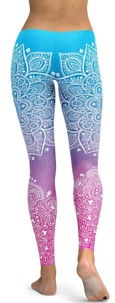BLUE TO PINK MANDALA LEGGINGS - $87.99