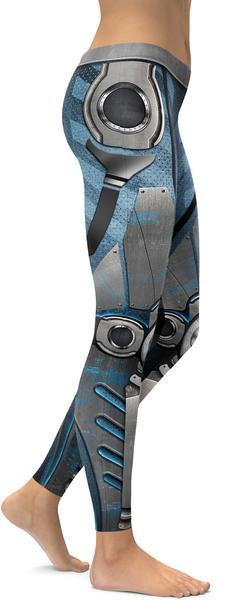 BLUE ROBOT / CYBORG LEGGINGS - $87.99