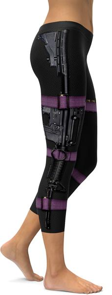 GUNS & MAKE-UP CARBON CAPRIS - $79.99