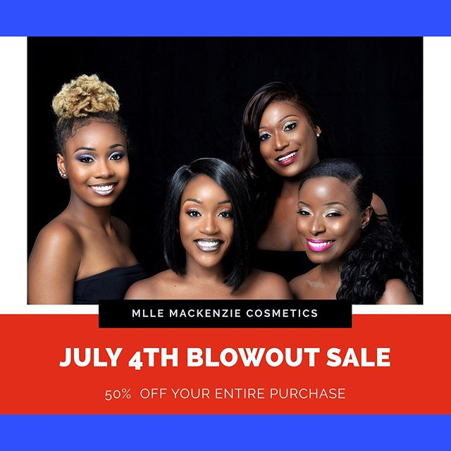 🛍 BLOWOUT SALE🛍⠀ ⠀ You know we couldn't let you celebrate Independence Day without a BLOWOUT SALE!  From now until Monday, enjoy 50% off site wide!! Shop your all time faves and other products you've been meaning to buy!  There is no better time to shop then during a sale.⠀ -⠀ -⠀ -⠀ #mllemackenzie #dippedincolor #twirledinradiance #beautycommunity #makeupnews #makeupcollector #fiercesociety #blowoutsale #playbeautifully #dailymakeup #makeupgirlz #beautylover l#happy4th #mattelipsticks #lipgloss #lippencils #nycityworld #makeupandwakeup #makeuplooks #makeuplove #makeupguru #makeupcollection #makeuphaul #makeuplover #makeuplife #contentcreator #socialmediacontent #makeuptime