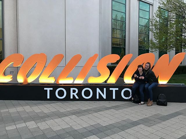 In my happy place at #CollisionConf in #YYZ hanging out with the #startupyyc crew. Never a dull moment & always bringing that contagious #yycenergy 👊🏻 Don't forget to stop by the #Calgary booth tomorrow (E202) & check out the exhibiting #YYC companies!