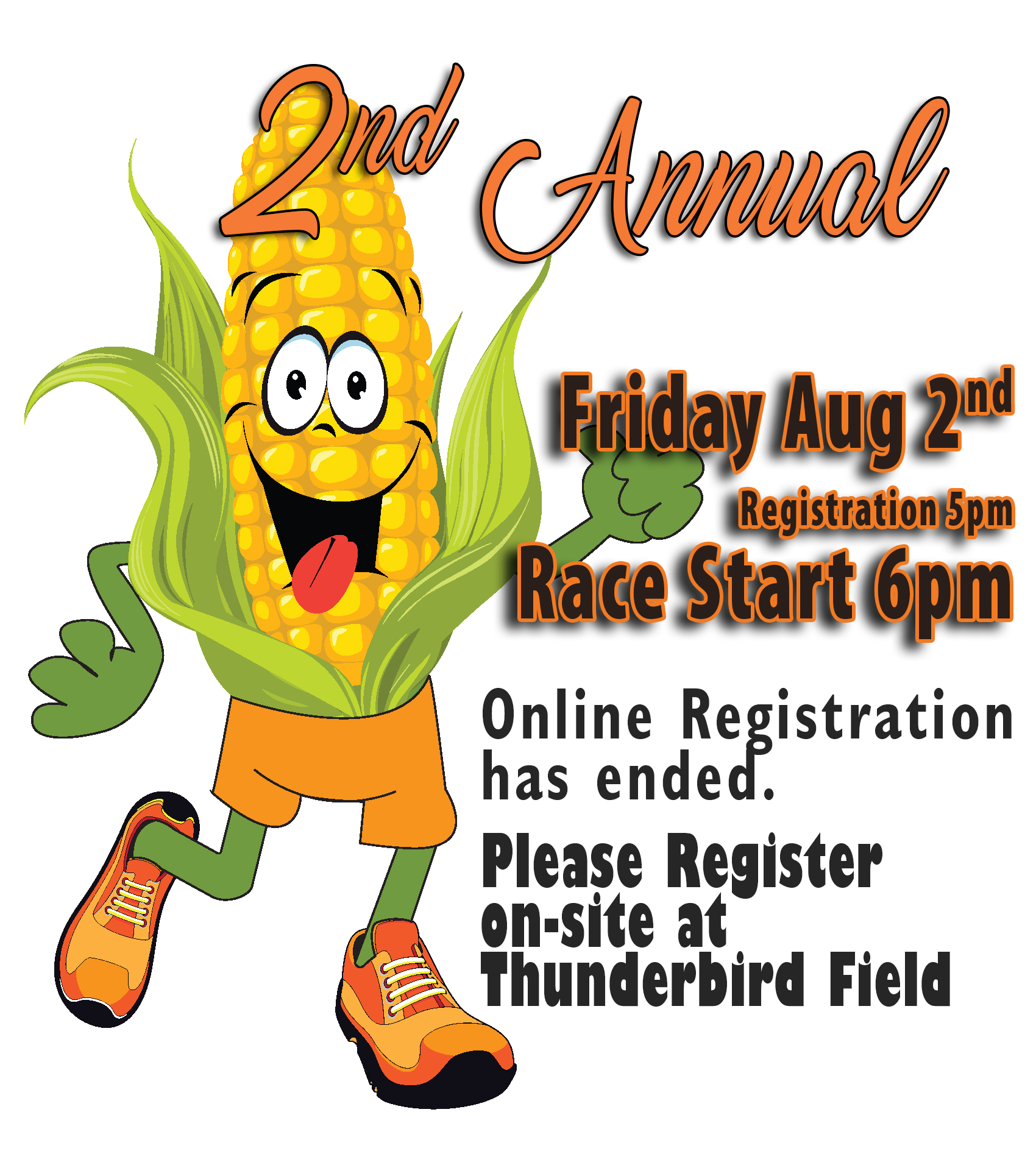 Cob Run 2019 - Friday, August 2nd Registration-5pm | Race Start-6pmAcademy Drive, Scandinavia, WI