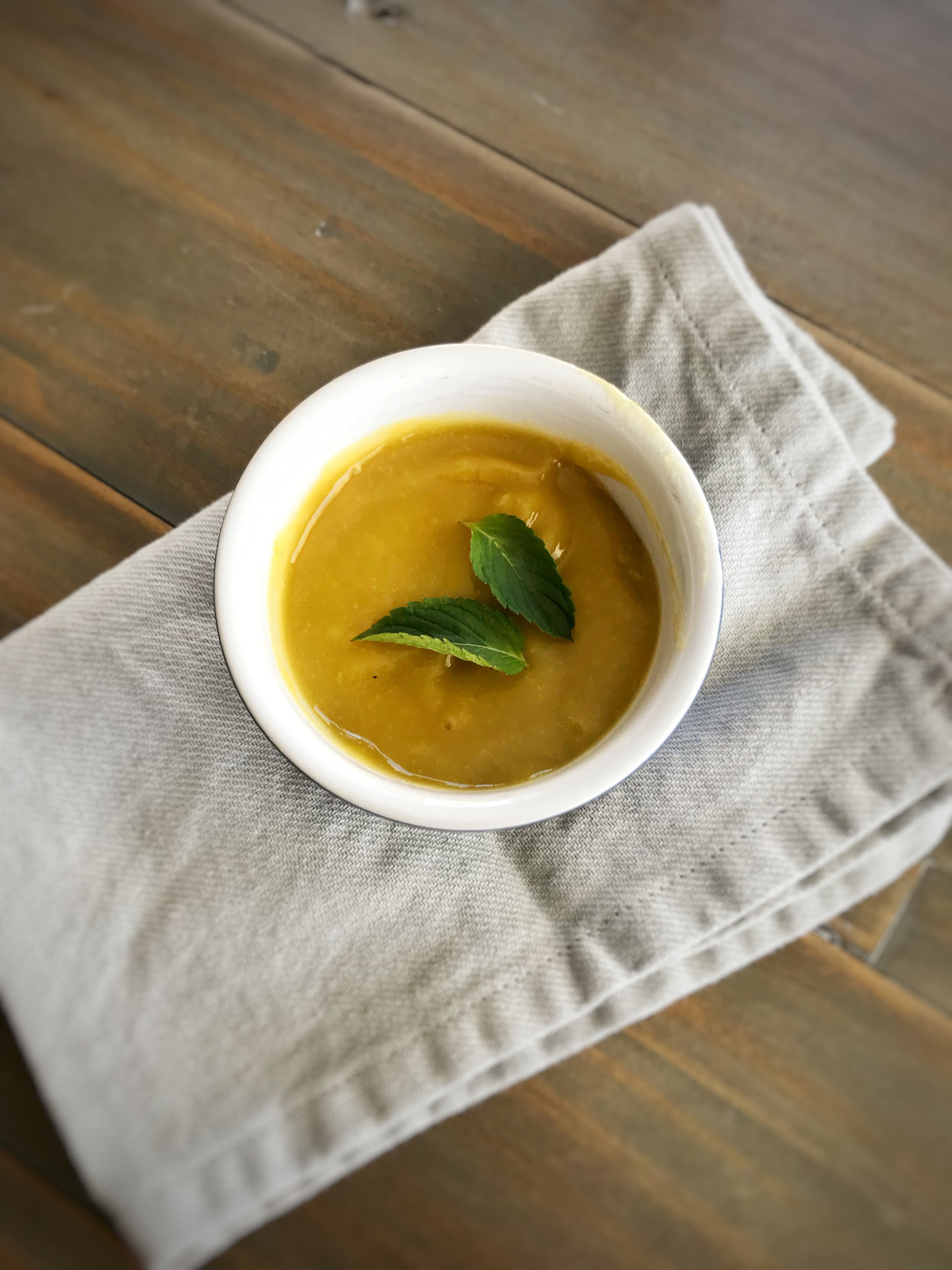 Mango-lime Purée - Ingredients:1/2 mango Juice of 1/2 limeDirections:Add chopped mango to a blender or food processor, along with the juice of 1/2 a lime. Blend until smooth. Optional: add 1 mint leaf.