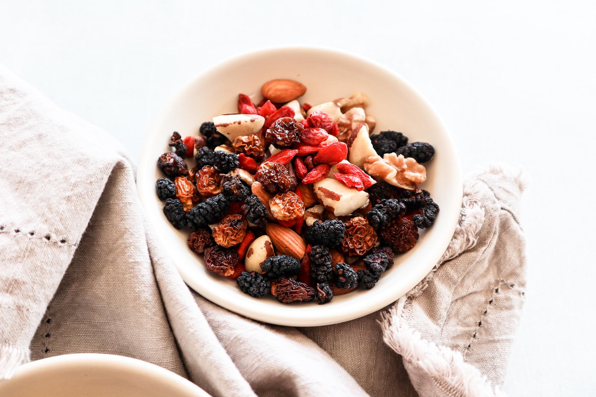 Antioxidant rich berry & brazils trail mix