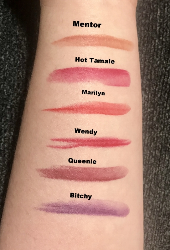 Swatch of 6 of our first launching colors!