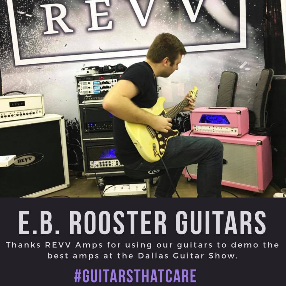 REVV Booth Dallas Show - May 2018 - Kyle demos our #11 Olympic White Relic S- Style