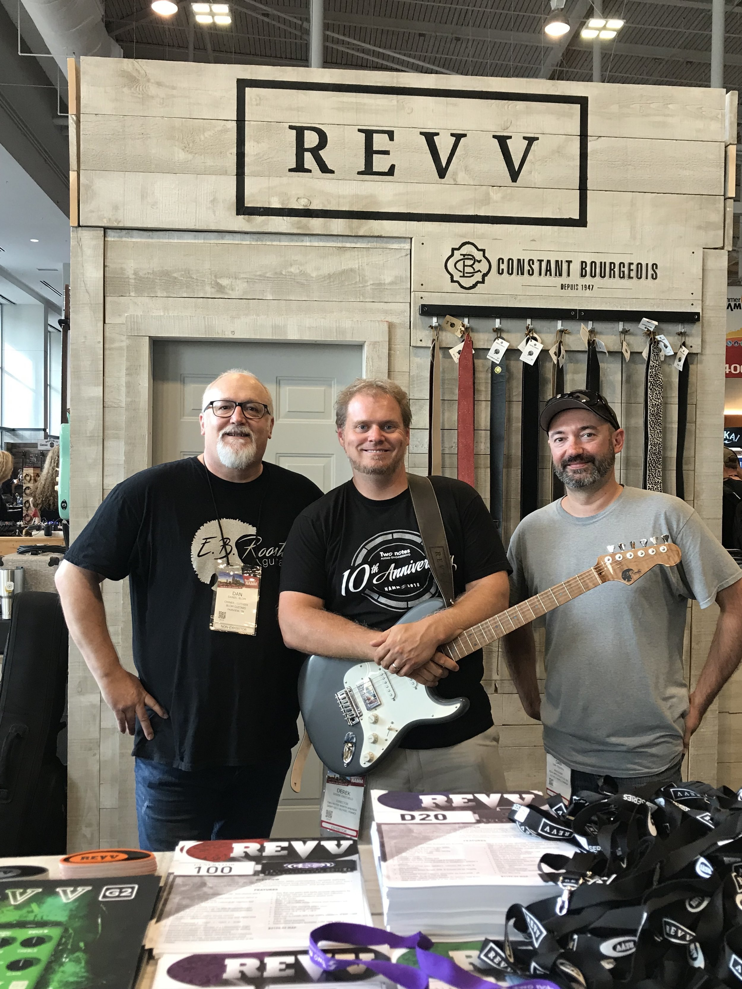 Summer NAMM 2019 - We are a REVV dealer!! - Derek Eastveld and Dan Trudeau are really great guys. Proud to say Derek Eastveld owns a few of our best guitars.