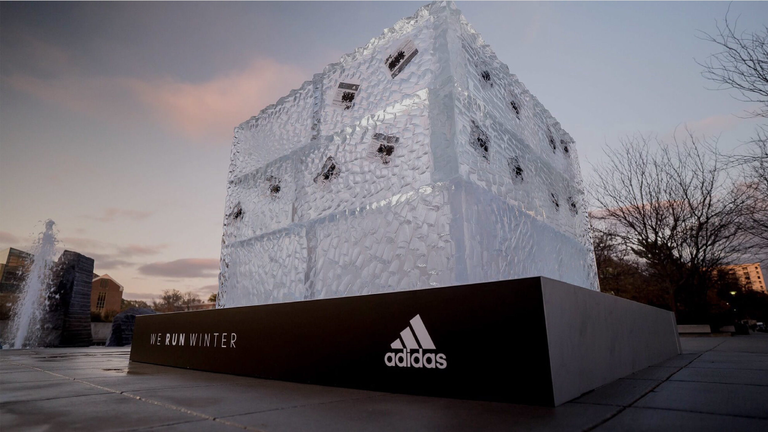 adidas Running & NCAA.   We Run Winter activation