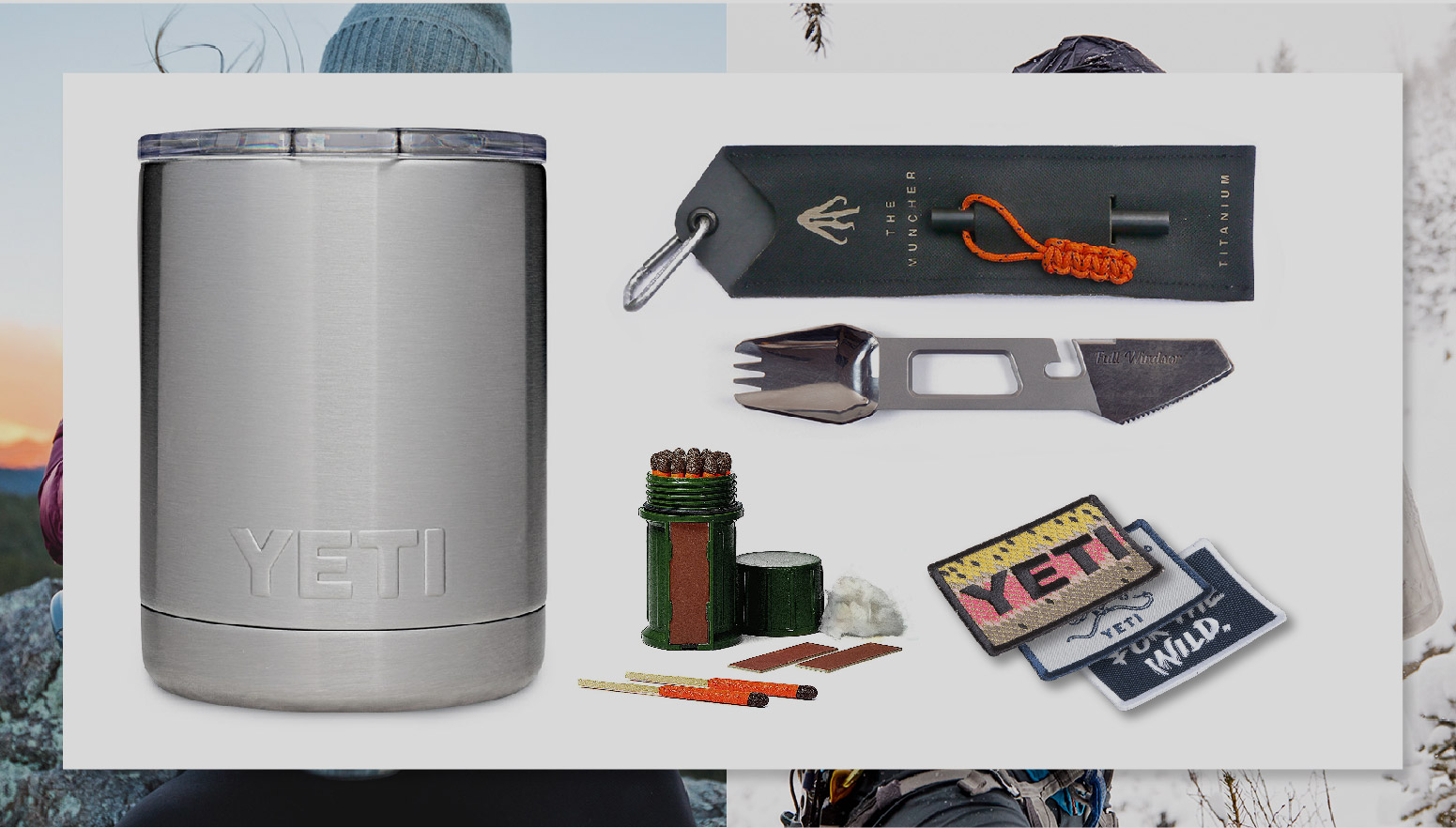 Yeti.   Holiday fire starter kit