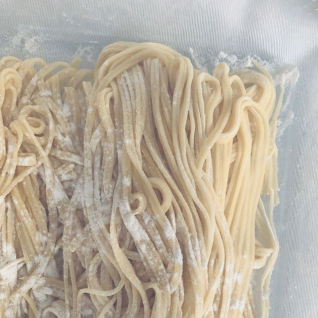 Carboidrati in forma di pasta.