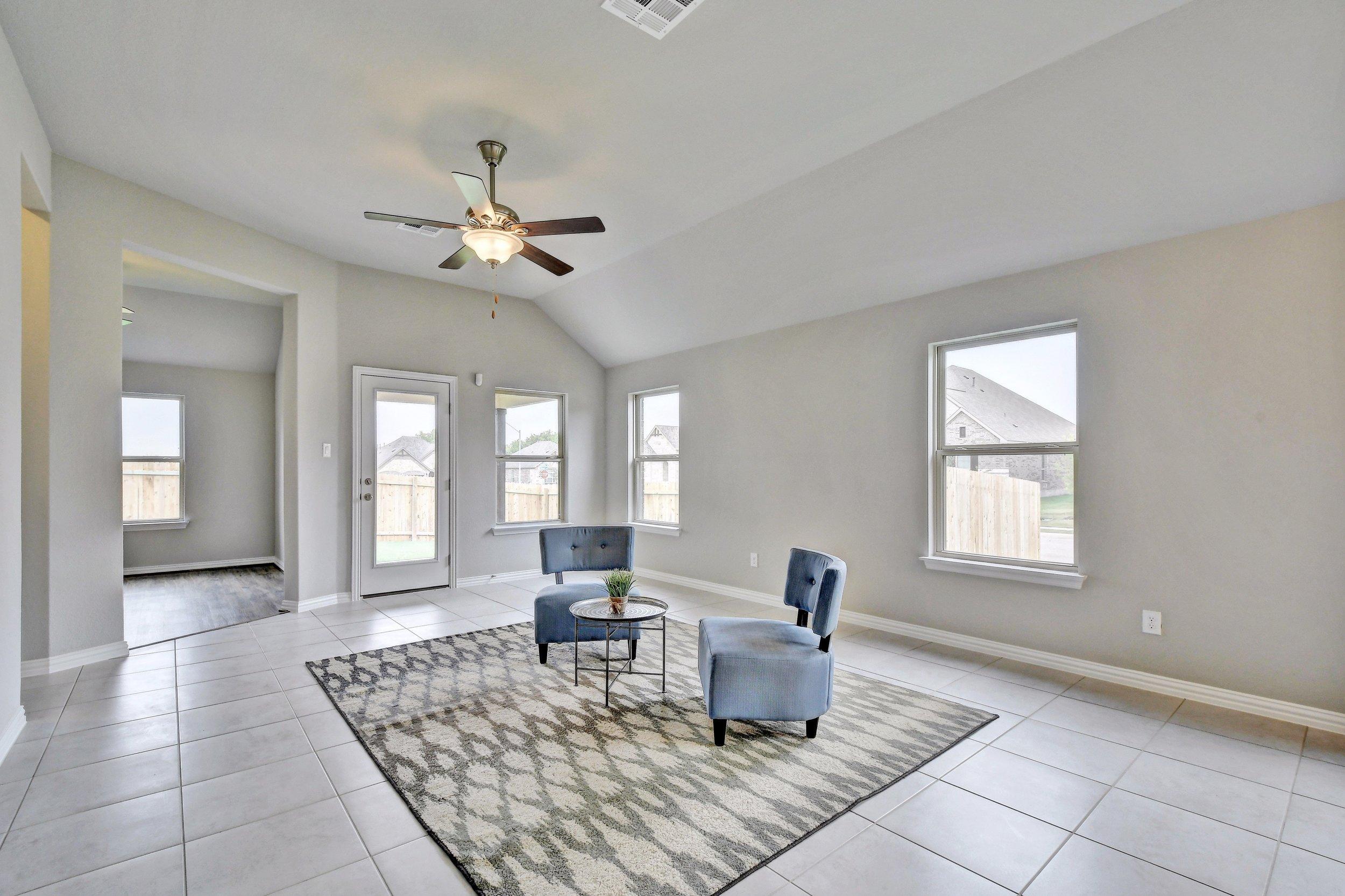 Nice open floor plan with a flex room.