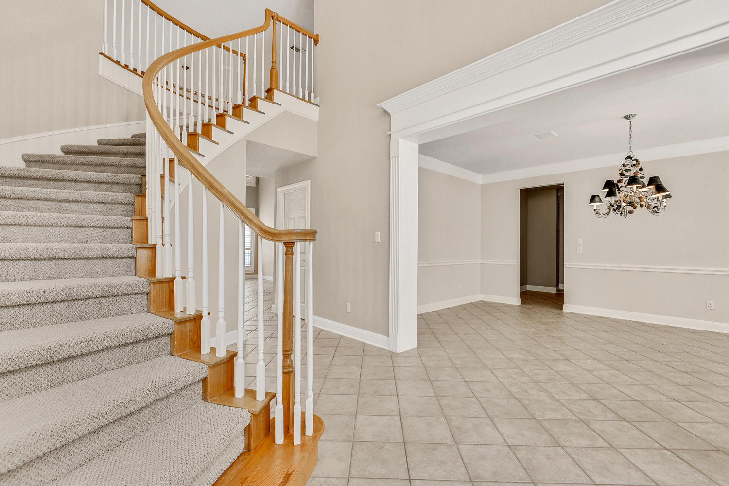 """Nothing says """"Welcome"""" like a grand staircase."""