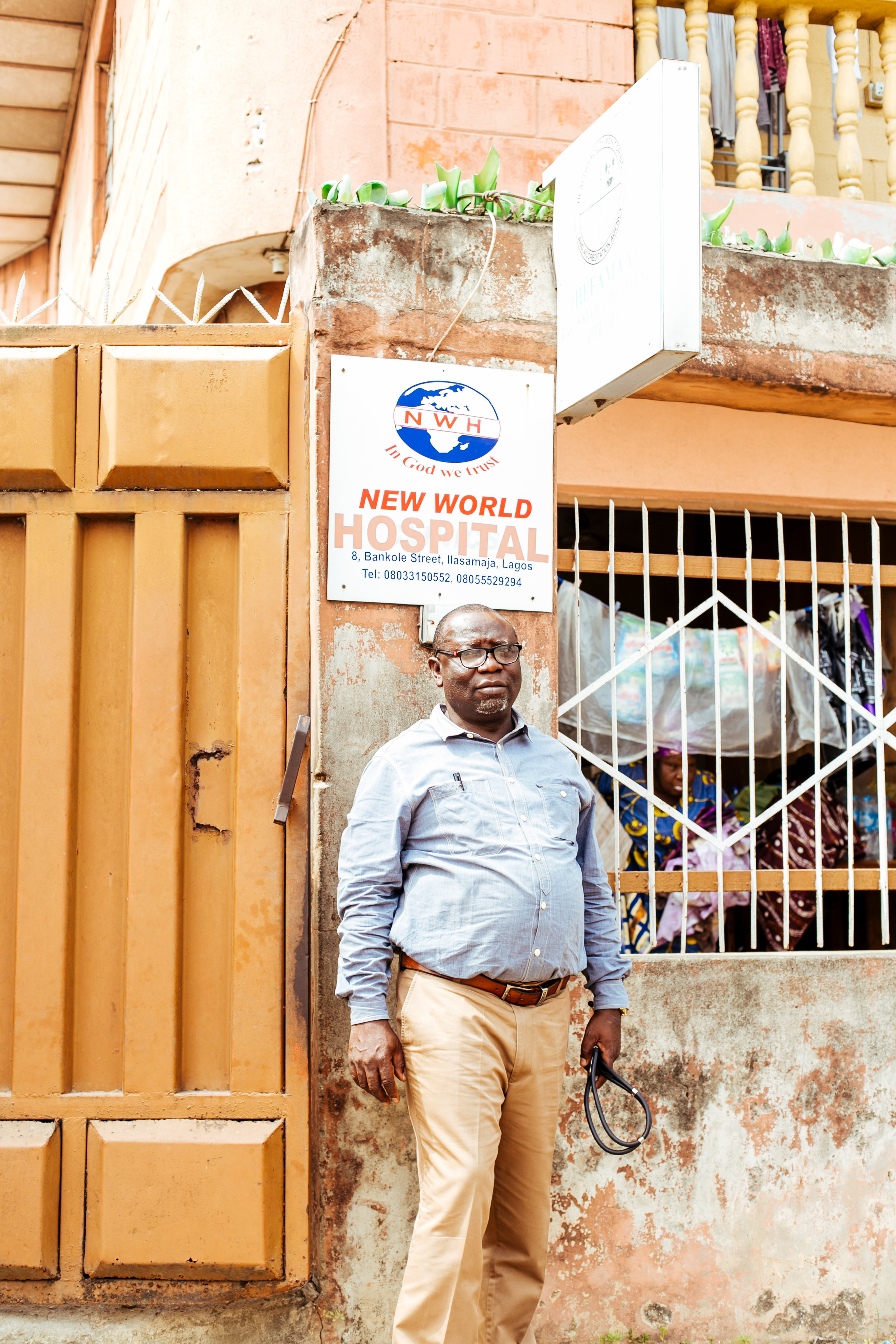 Dr. Musa - New World Hospital, a community-based clinic in Lagos, Nigeria.