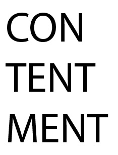 Contentment Worksheet