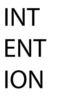 INTENTION WORKSHEET