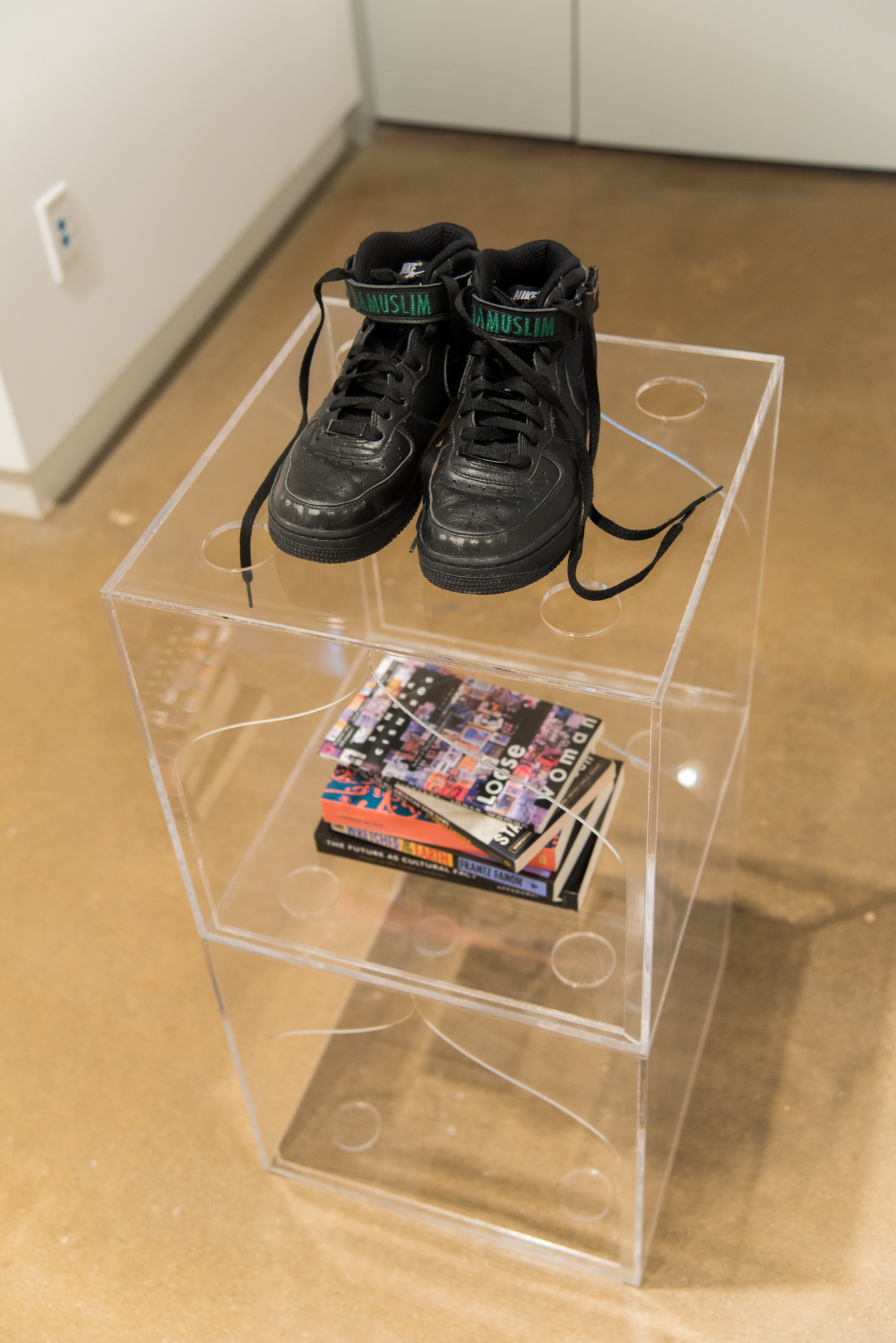 Shoe Shelves,  Clear acrylic stackable customized shelving, 15 × 15 × 15 in, 2017