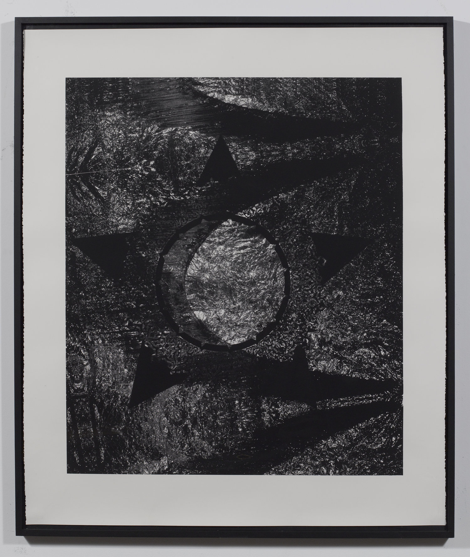 Fasting (30-day fast by the lunar calendar) , Monotone screen-print, 59 × 50 in, 2017