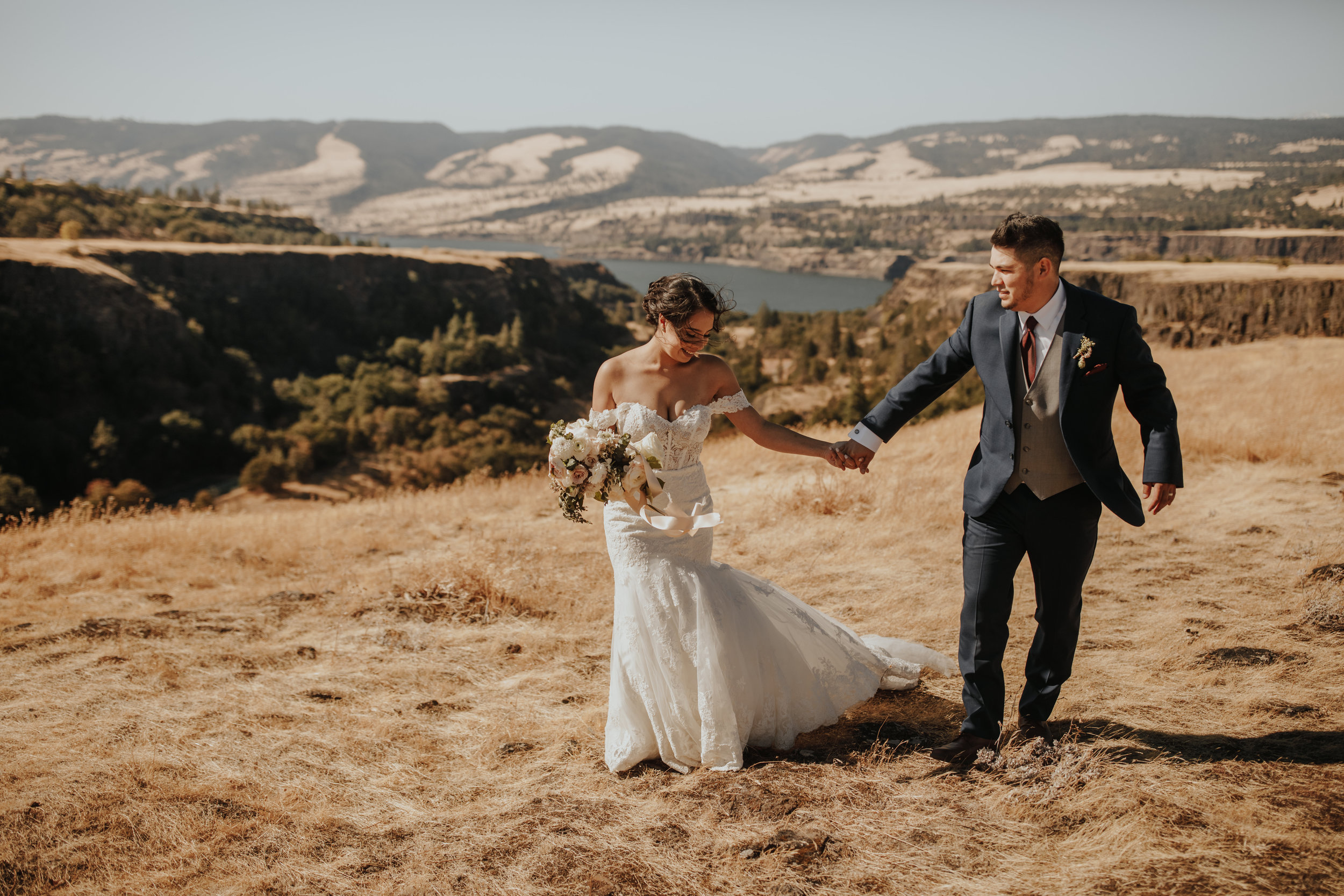 Columbia gorge wedding