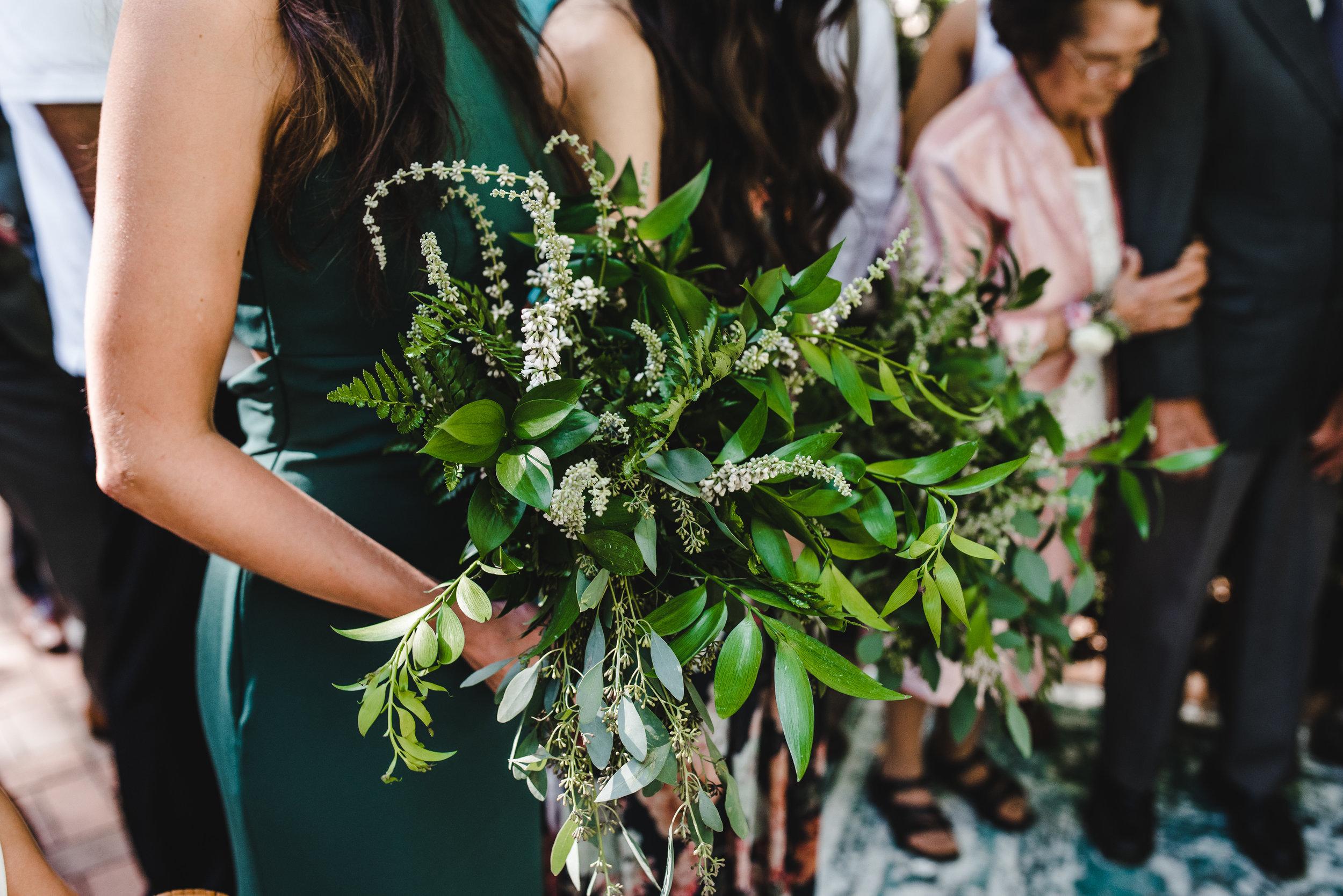 bridesmaid greenery bouquet