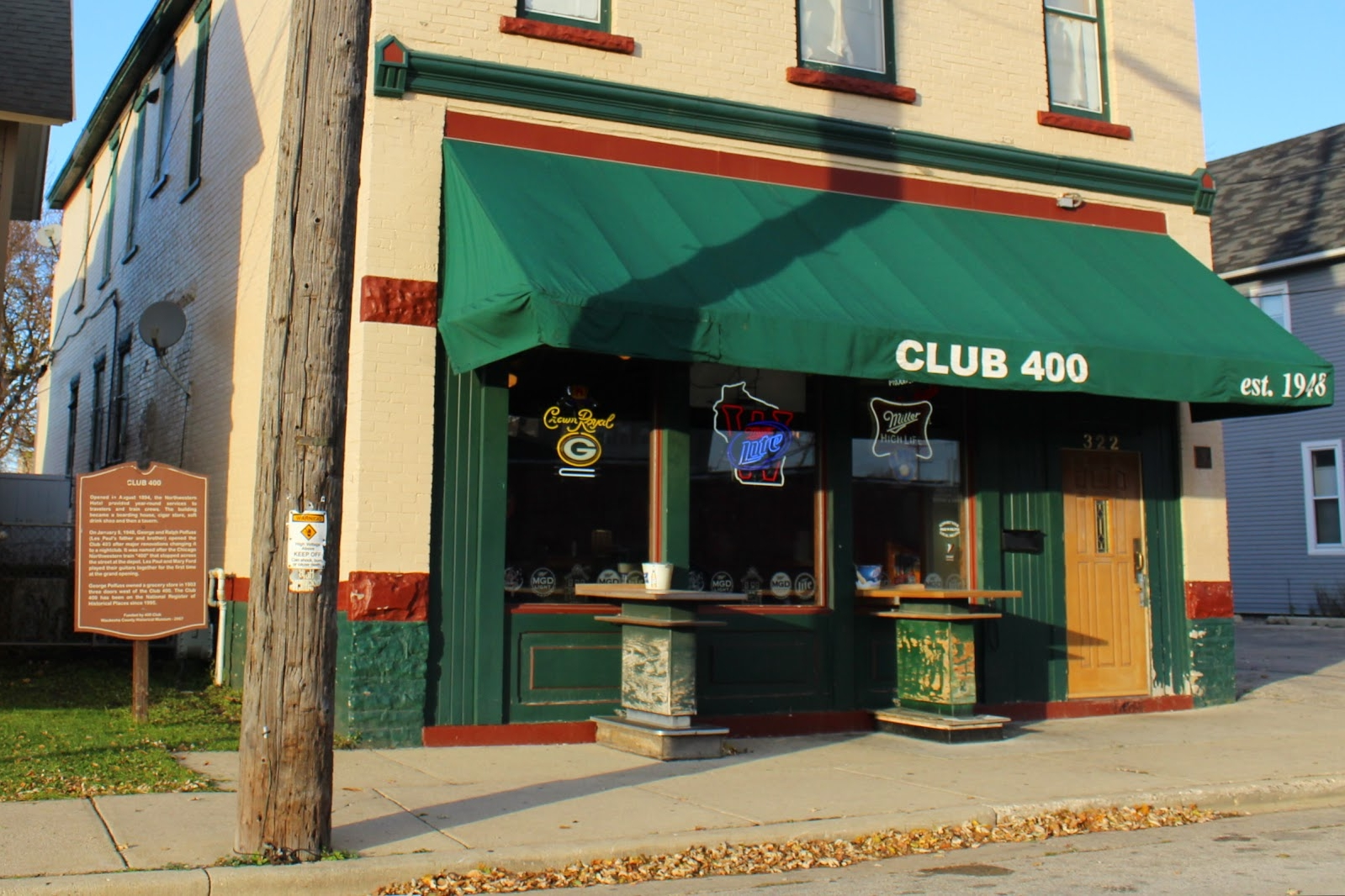 Club 400 exterior today.