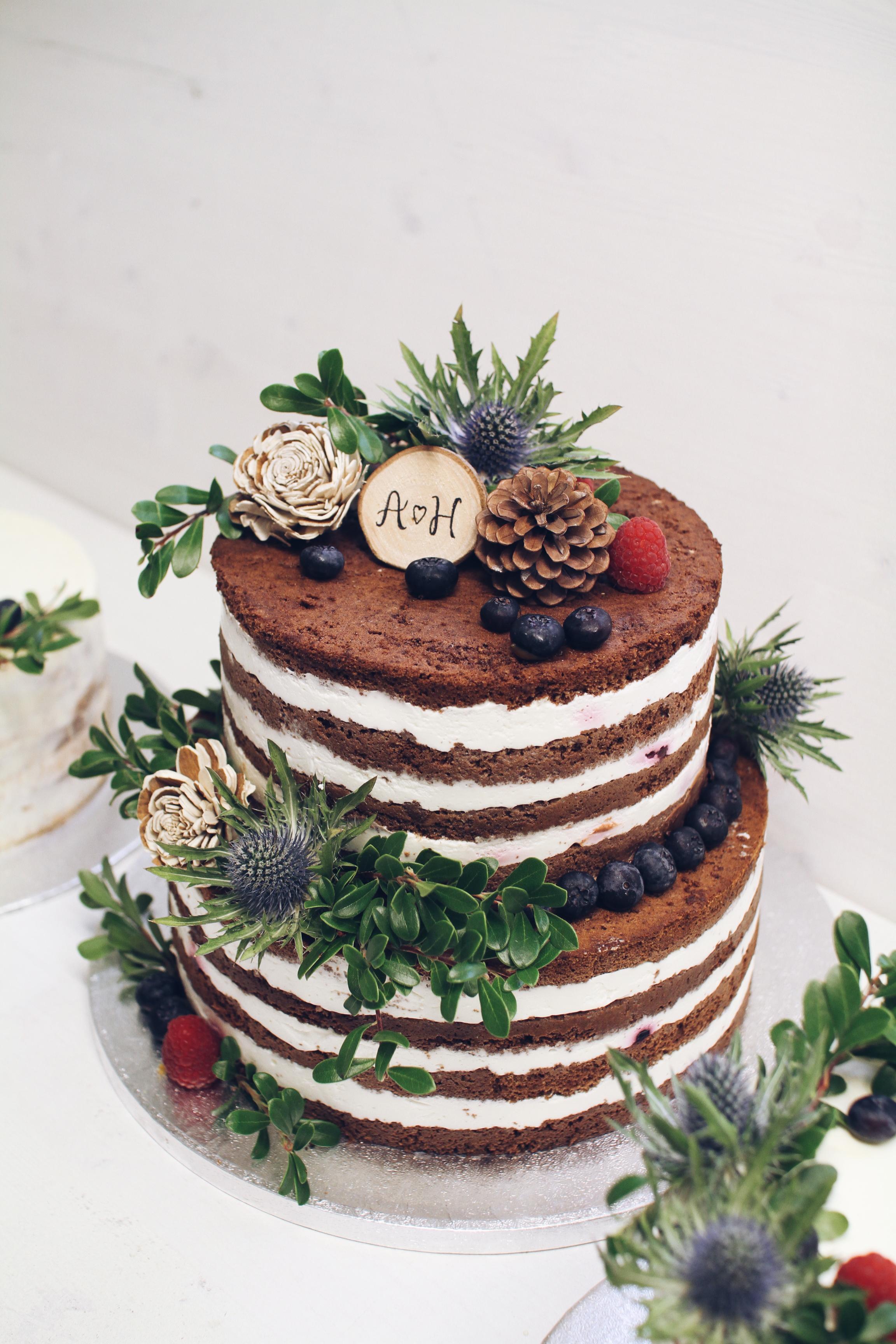 Gozdna naked torta.
