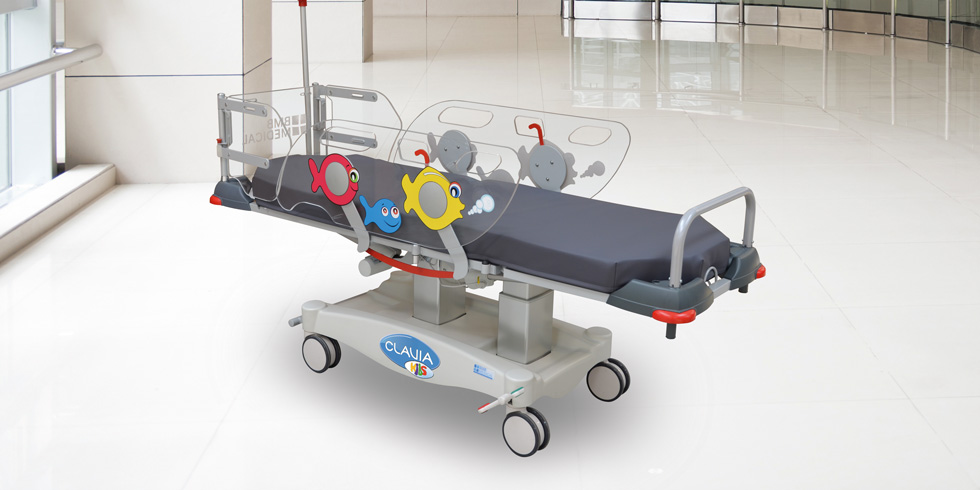 CLAVIA KIDS - CLAVIA KIDS, is a unique and specific paediatric stretcher chair for one day care. Fully electric,complies with its specific side rails and paediatric optional kit at head-end, with the requirements of the French Medical Safety Agency ANSM with regard to children under 146 cm.click here for the online brochureClick here for more details