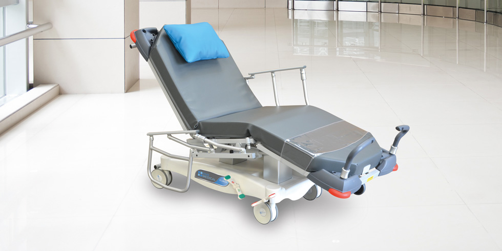 CLAVIA LSA - Electrical trolley chair for ambulatory careClick here for the online brochureClick here for more details