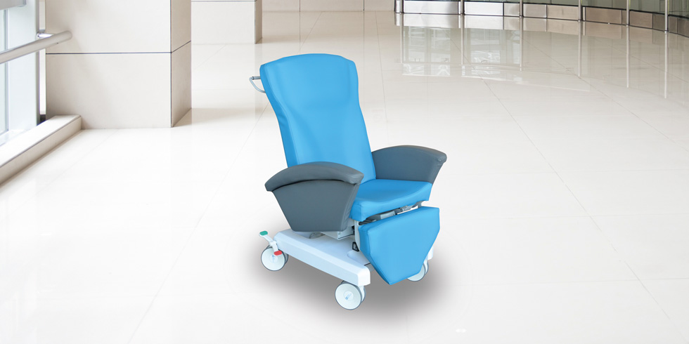 CAREXIA FPE - Carexia FPE, is a chair designed for post-surgery rest, blood sampling, care or examination, chemotherapy or hemodialysis.click here for the online brochureclick here for the range of colours
