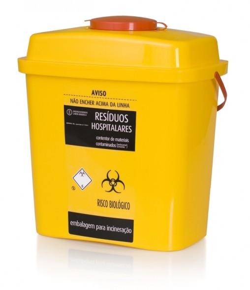 EMSharps 10 L - Reference:7100Volume:10Dimensions (L x W x H):280x194x310 mmTotal capacity:10 000 mlUseful Capacity:7 500 mlMaximum Load:5 kgDecoration:Label | IML
