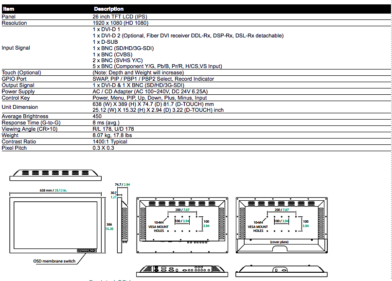 26%22 - model FS-P2601D specs.png