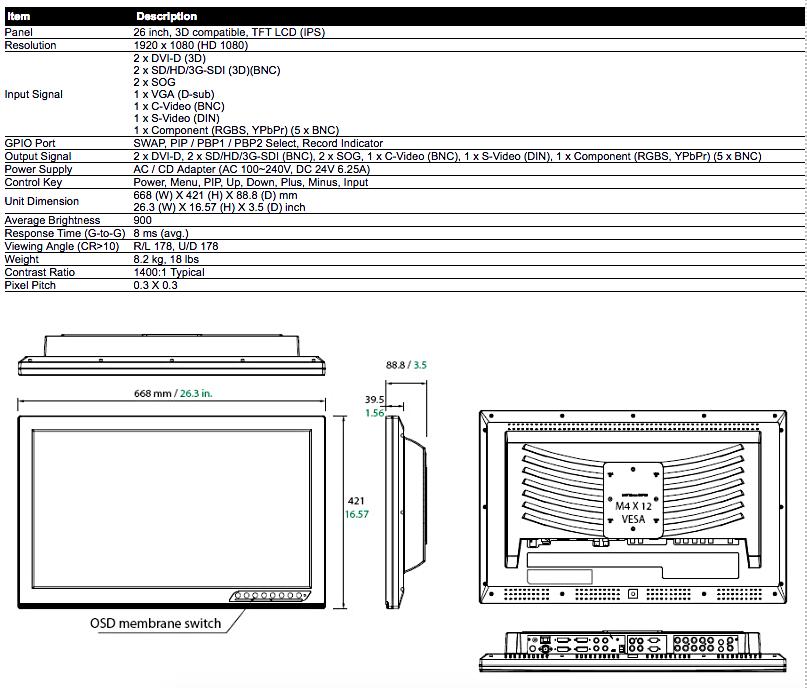26%22 - model FS-P2607D spec.png