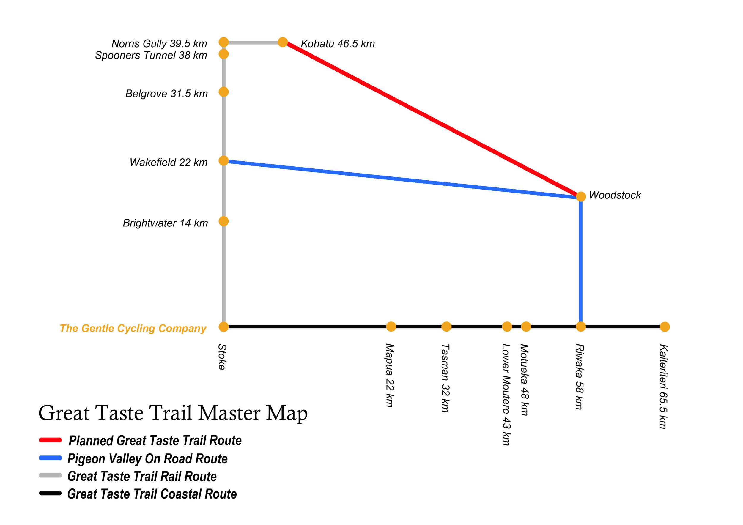 Great Taste Trail map