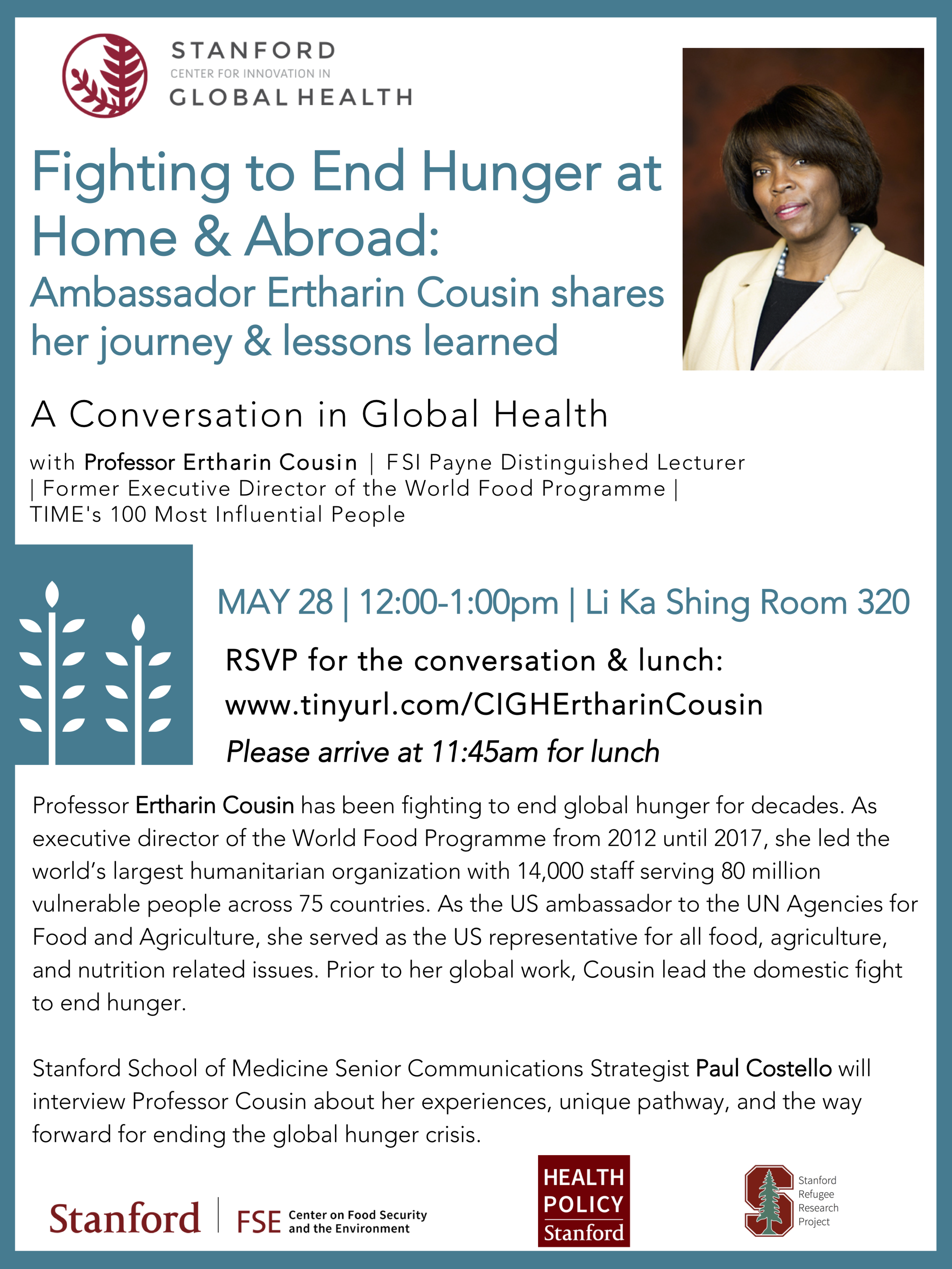 Fighting to End Hunger at Home and Abroad - May 28, 2019