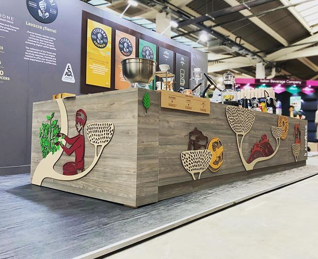 If you are visiting The London Coffee Festival be sure to check out the @lavazzauk stand that we have created & installed! ☕️ #OldTrumanBrewery #creatingadesigndifference #interiordesign #exhibitiondesign #diversecreativity #londoncoffeefestival
