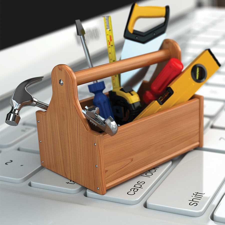 As melhores ferramentas. -